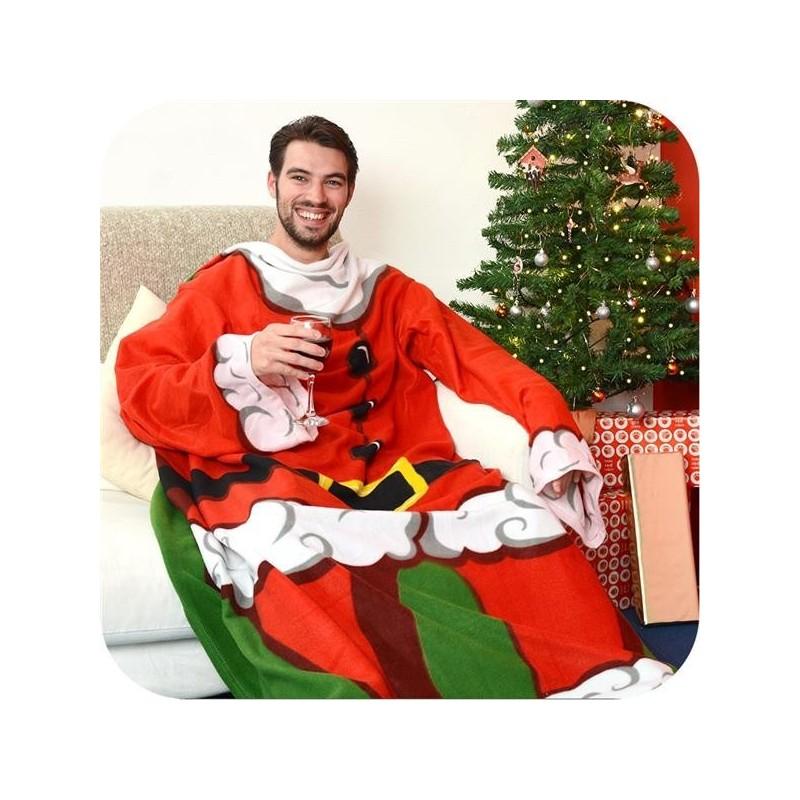Coperta Babbo Natale con le maniche