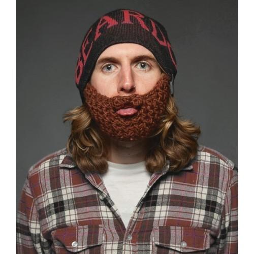 Beardo Barba Cappello nero, barba marrone e scritta in rosso