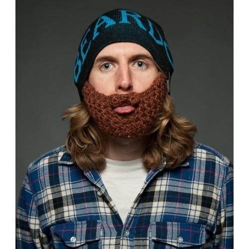Beardo Barba Cappello nero, barba marrone e scritta in blu