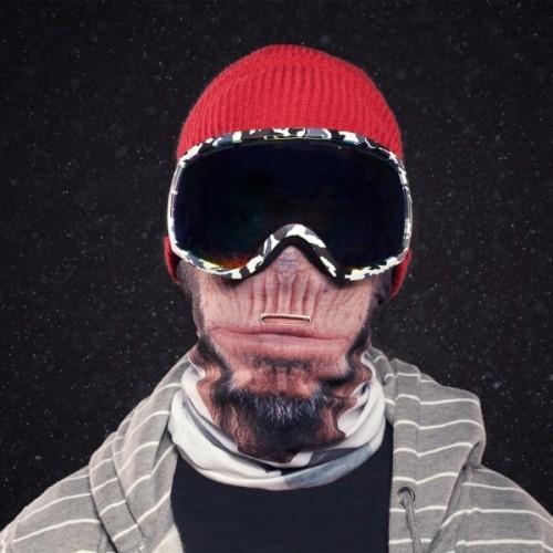 Sciarpa Tubolare Scimmia Snowboard Sci