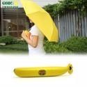 Ombrello Banana Portatile da Borsetta