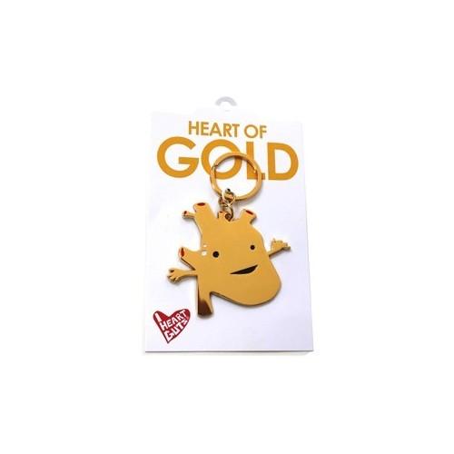 Portachiavi Cuore Oro Organi Interni