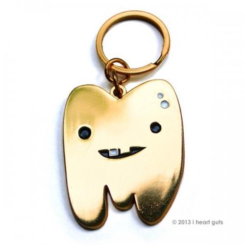 Portachiavi Dente Oro Organi Interni