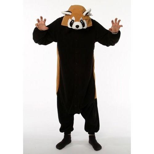 Pigiama intero giapponese Kigurumi Panda Rosso