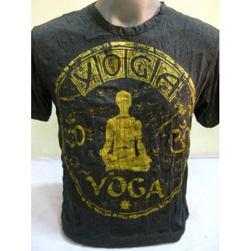 T-shirt Sure Design Infinitee Yoga Cotone