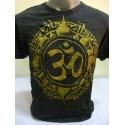 T-shirt Sure Design Infinitee Ohm Cotone oro su nero