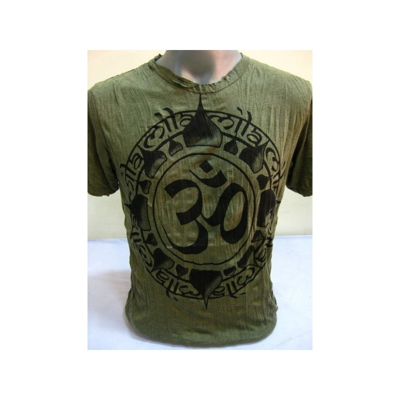 T-shirt Sure Design Infinitee Ohm Cotone nero su verde