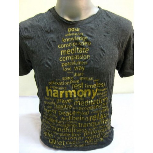 T-shirt Sure Design Harmony Cotone Oro su Nero