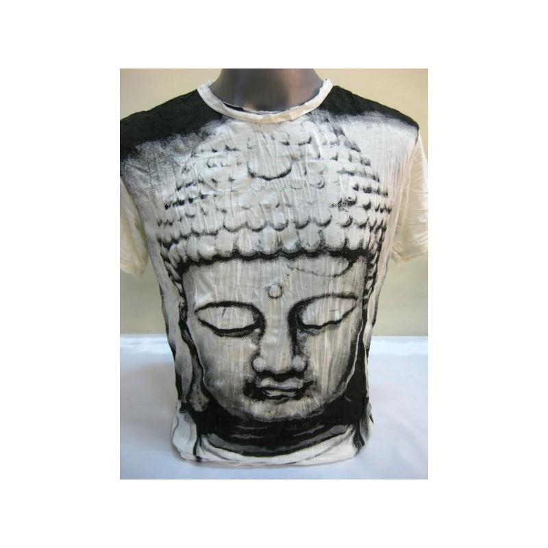 T-shirt Sure Design Buddha Cotone