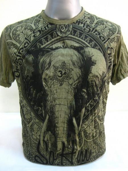 Nero Verde T Ohm Cotone Shirt Sure Design Elefante Su 4A5RjL