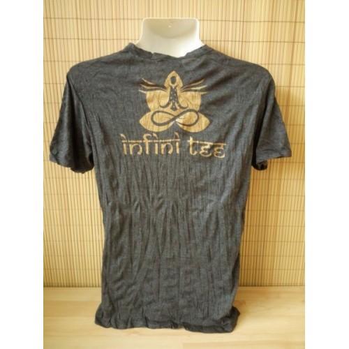 T-shirt Sure Design Harmony Cotone Oro su Nero