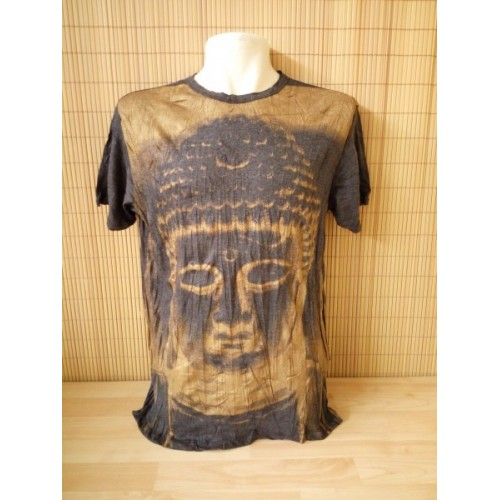T-shirt Sure Design Buddha Cotone oro su nero