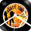 Orologio da parete vinile Party Time