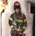 copripiumino pompiere SNURK 140 x 220 con copricuscino