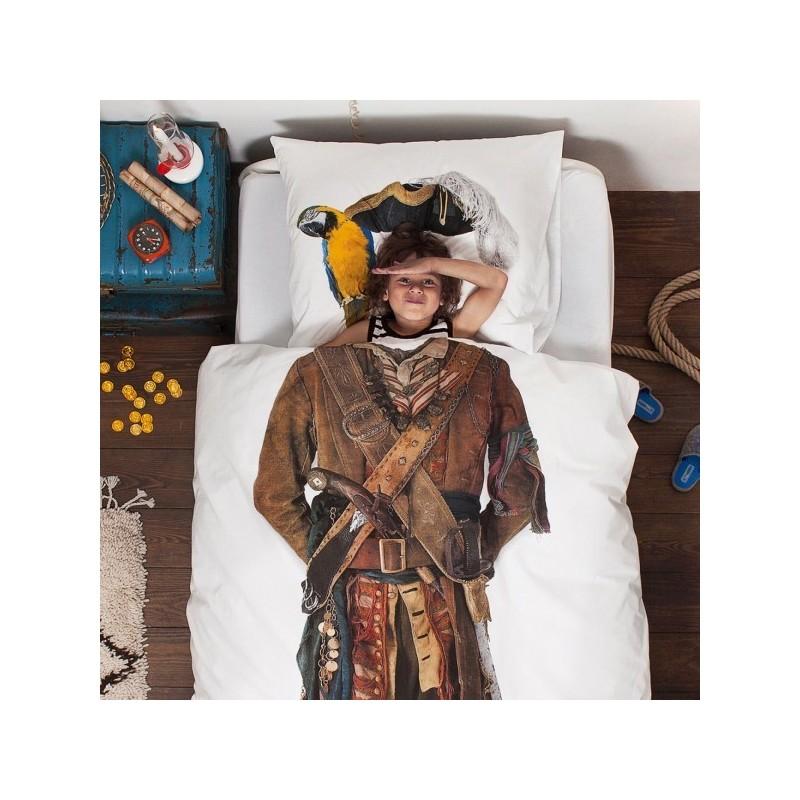 Copripiumino Pirata SNURK 140 x 220 con copricuscino