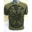 T-shirt Sure Design Chakra Ohm Mandala Cotone nero su verde