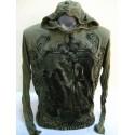 Manica lunga Sure Design Antique Buddha Cotone nero su verde
