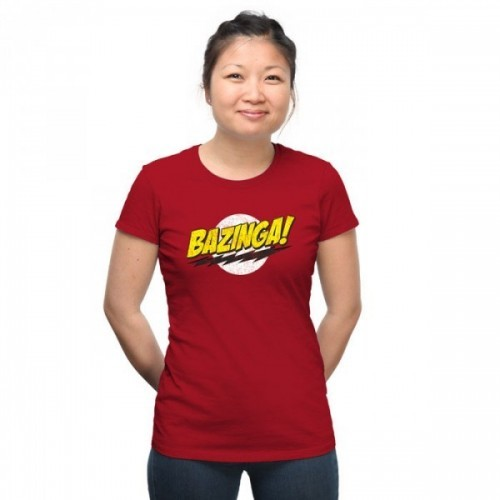 The big bang theory T-shirt Bazinga Donna rossa