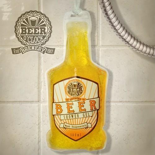 Gel doccia schiuma birra in bottiglia