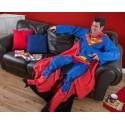Coperta con le maniche Superman in pile